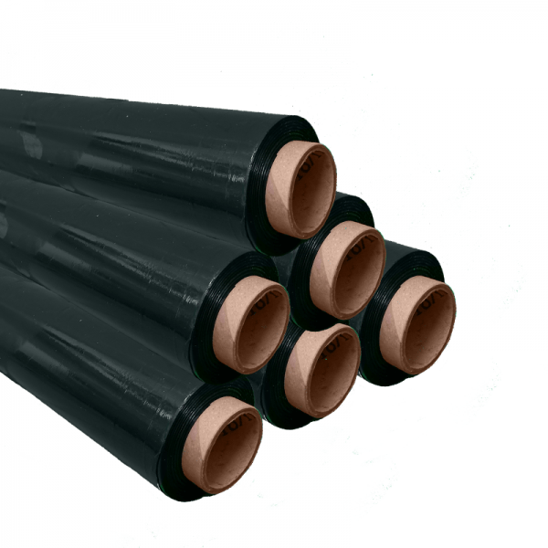 black hand pallet wrap pack of 6 at Cardboard Boxes NI