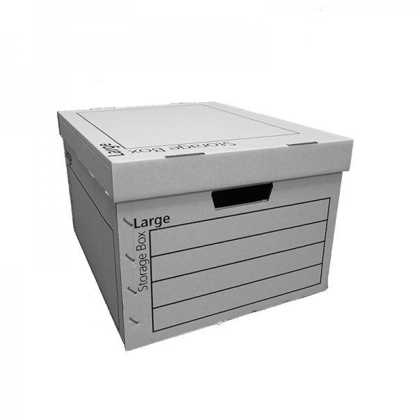 440 x 370 x 255mm Large White Strong Archive Cardboard Boxes