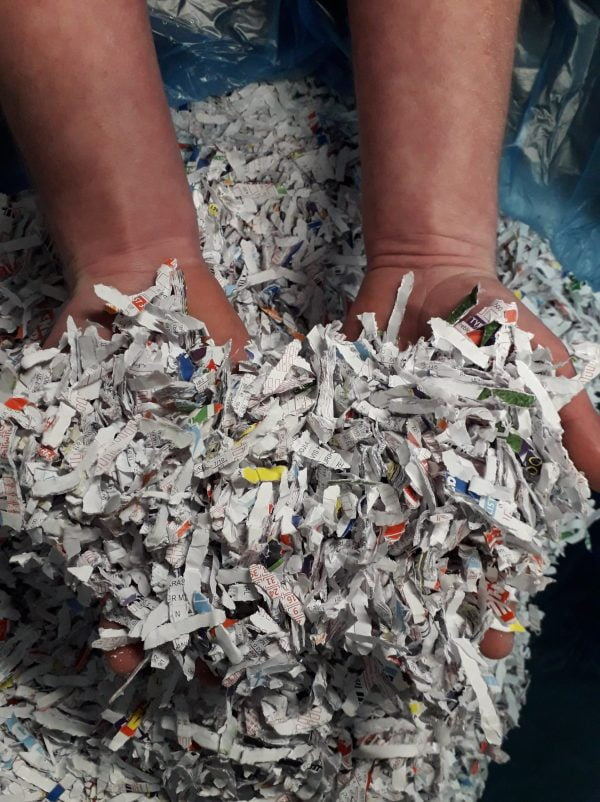 Shredded Newspaper at Cardboard Boxes NI