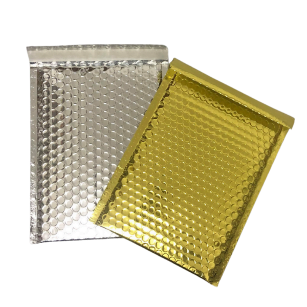 Gold and Silver Bubble Mailers available at Cardboard Boxes NI.